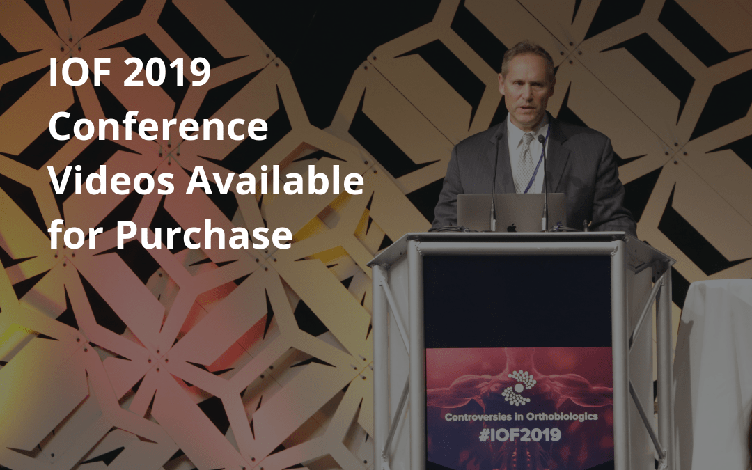 IOF 2019 Conference Videos Available for Purchase