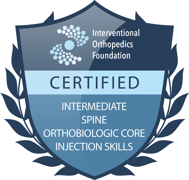 IOF certification badge: intermediate spine