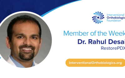 IOF Member of the Week: Dr. Rahul Desai
