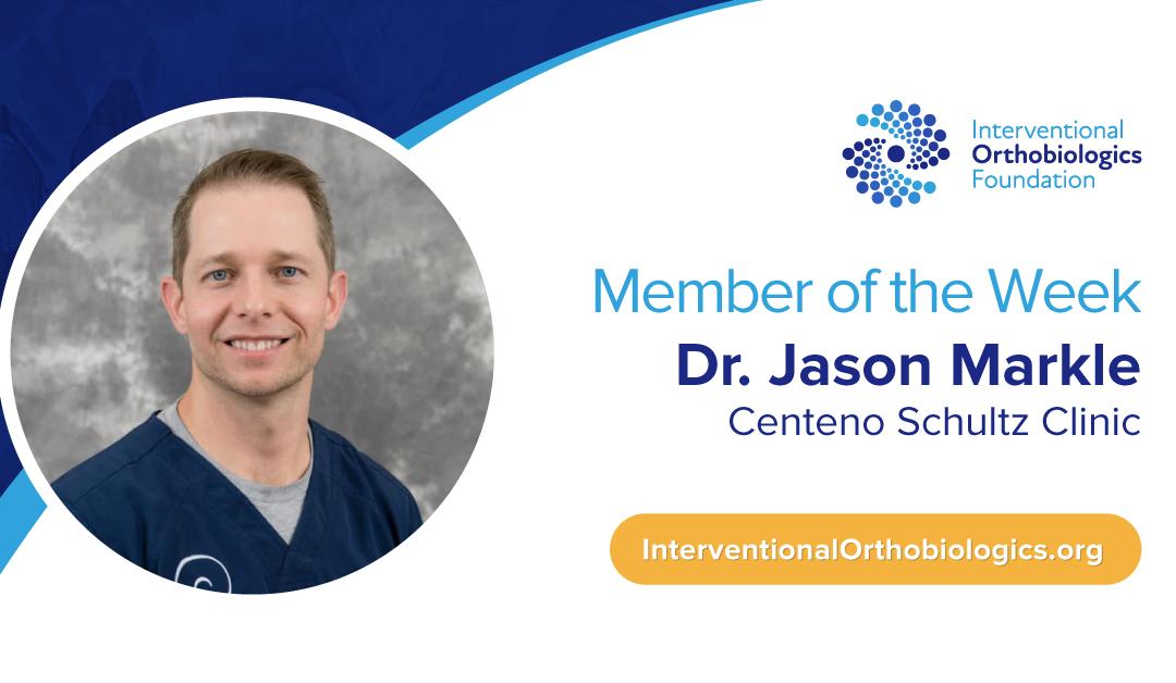 IOF Member of the Week: Dr. Jason Markle