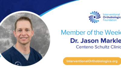 IOF Member of the Week: Dr. Jason Markle