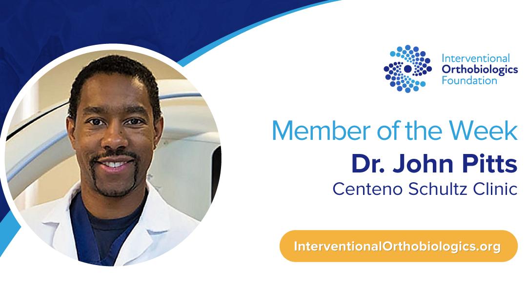 IOF Member of the Week: Dr. John Pitts