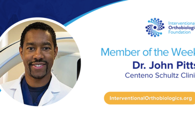 IOF Member of the Week: Dr. John Pitts