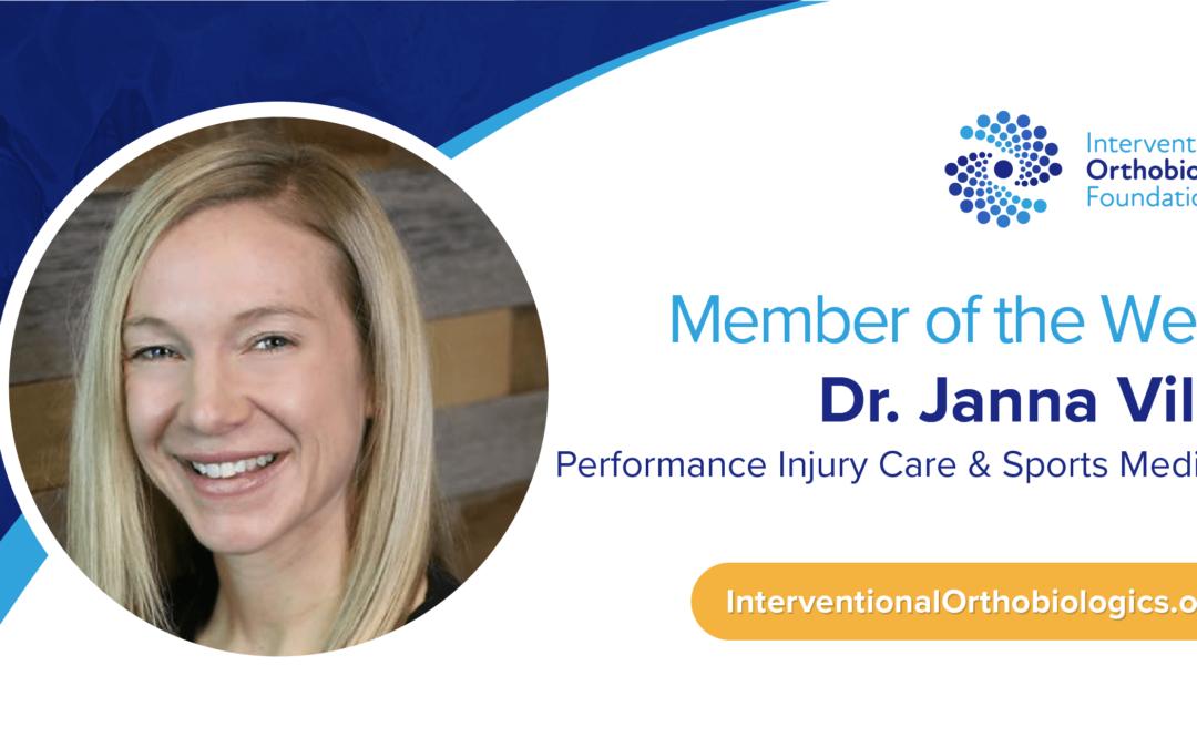 IOF Member of the Week: Dr. Janna Vilen