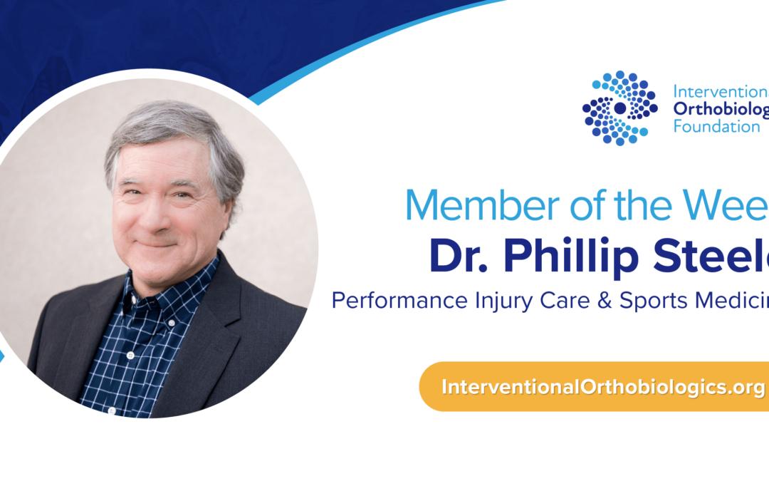 IOF Member of the Week: Dr. Phillip Steele