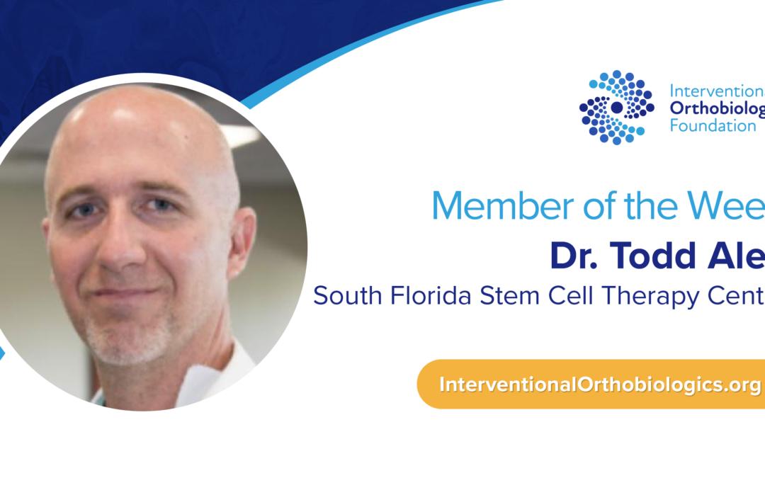 IOF Member of the Week: Dr. Todd Alea
