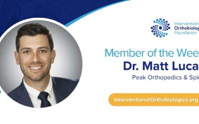 IOF Member of the Week: Dr. Matt Lucas