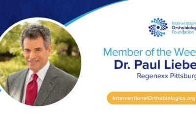 IOF Member of the Week: Dr. Paul Lieber