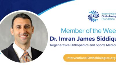 IOF Member of the Week: Dr. Imran James Siddiqui
