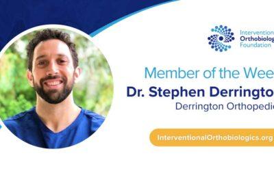 IOF Member of the Week: Dr. Stephen Derrington