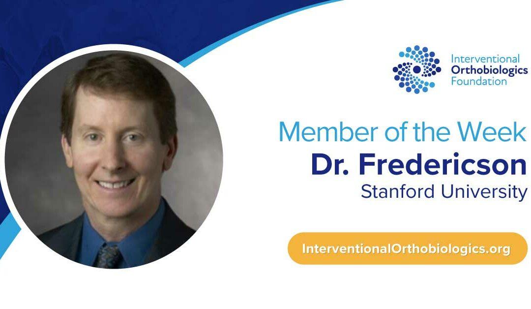 IOF Member of the Week: Dr. Michael Fredericson