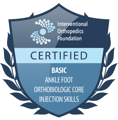 IOF certification badge: basic ankle foot